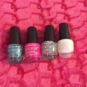 4 nail polishes